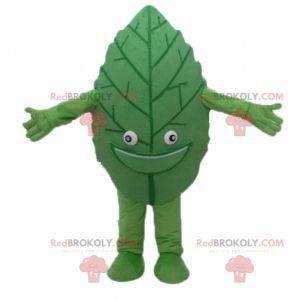 Giant and smiling green leaf mascot - Redbrokoly.com