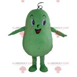 Maskottchen großer Mann der riesigen grünen Bohnenkartoffel -