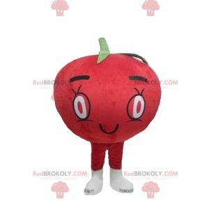 Giant red tomato mascot all round and cute - Redbrokoly.com