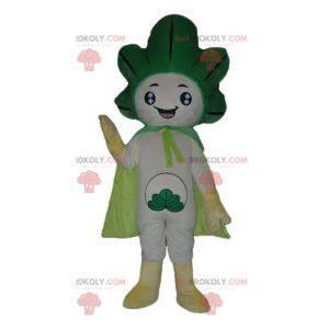 Obří zelené a bílé zelí pórek maskot - Redbrokoly.com