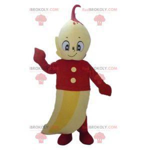 Obří žlutý banánový maskot s červeným oblečením - Redbrokoly.com