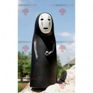 Sort og hvid lady ghost maskot - Redbrokoly.com