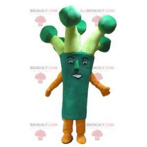 Obří zelený brokolice pórek maskot - Redbrokoly.com