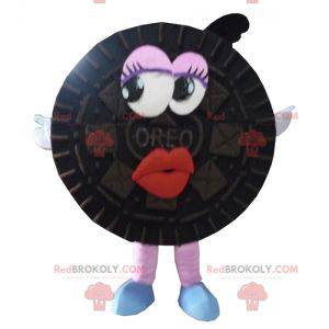 Oreo maskot rund sort kage - Redbrokoly.com
