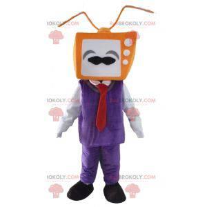 Maskotka mężczyzna z głową w postaci telewizora - Redbrokoly.com