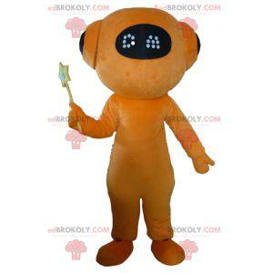 Orange und schwarzer Roboter Maskottchen Riesen Alien -