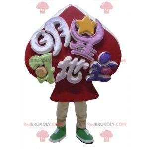 Maskot červené piky hrací karty maskot - Redbrokoly.com