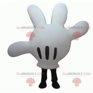 Mascote branco e preto do Mickey Mouse - Redbrokoly.com