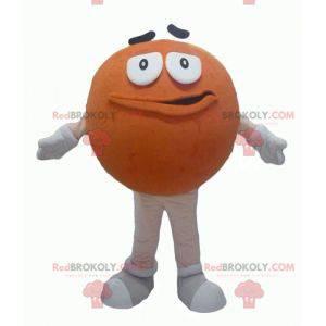 M & Ms Maskottchen Orange Riese rund und lustig - Redbrokoly.com
