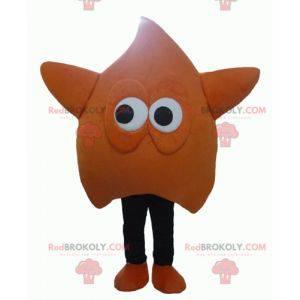 Obří a zábavný maskot oranžové a černé hvězdy - Redbrokoly.com