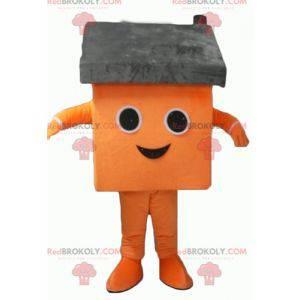 Maskotka gigantyczny pomarańczowy i szary dom - Redbrokoly.com