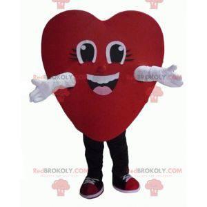 Riesiges und lächelndes rotes Herzmaskottchen - Redbrokoly.com