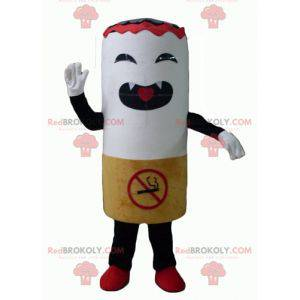 Gigantyczna maskotka papieros wyglądająca zaciekle -