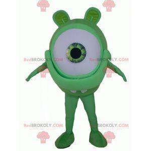 Stor gigantisk grønn øye maskot fremmed - Redbrokoly.com