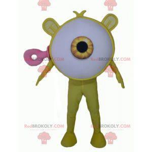 Großes riesiges Maskottchen-Alien des gelben Auges -