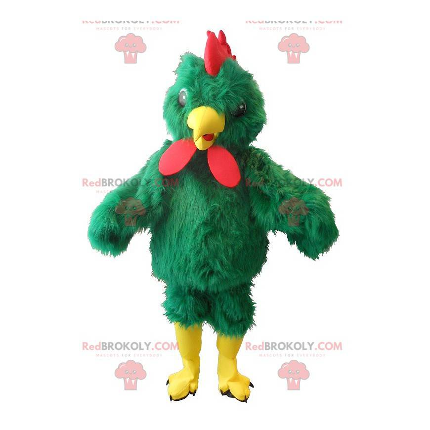 giant green rooster mascot - Redbrokoly.com