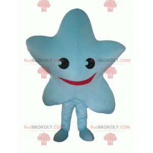 Riesiges und lächelndes blaues Sternmaskottchen - Redbrokoly.com
