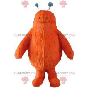 Cute and hairy orange monster mascot - Redbrokoly.com