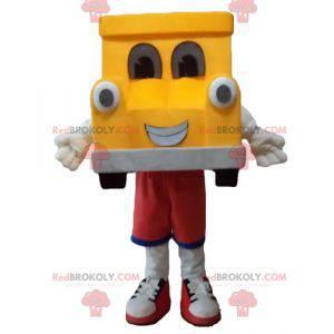 Obří žluté a šedé auto maskot - Redbrokoly.com