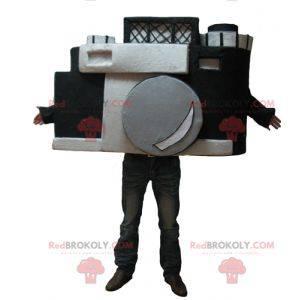 Gigantisk svart-hvitt kamera maskot - Redbrokoly.com