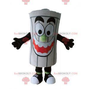 Giant gray dumpster trash mascot - Redbrokoly.com