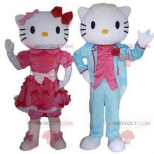 2 Maskottchen, eines von Hello Kitty und das andere von ihrer