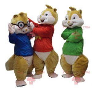 3 mascotes esquilos de Alvin e os Esquilos - Redbrokoly.com