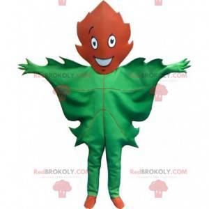 Maskotka gigantyczny zielony i brązowy liść - Redbrokoly.com