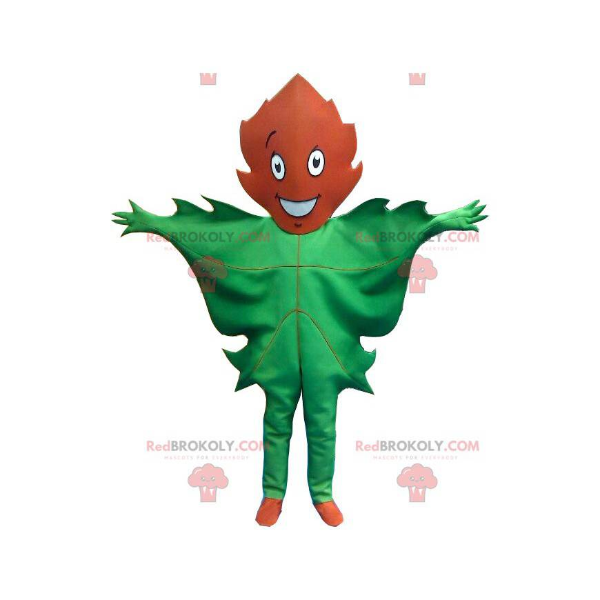 Gigantisk grønn og brun bladmaskot - Redbrokoly.com