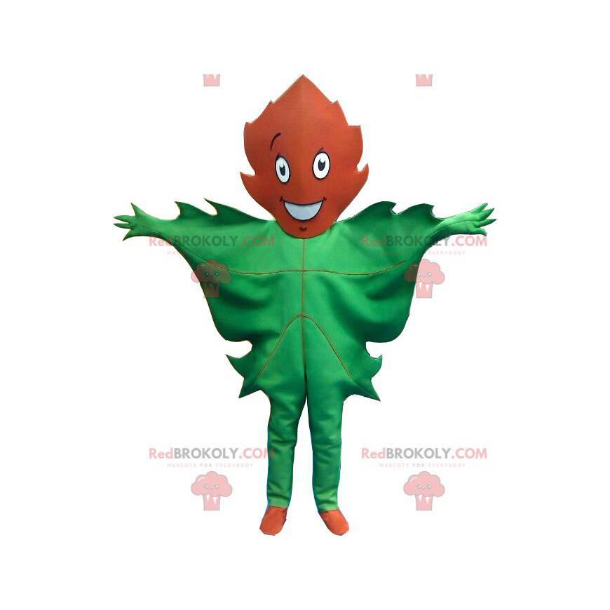 Obří zelený a hnědý listový maskot - Redbrokoly.com