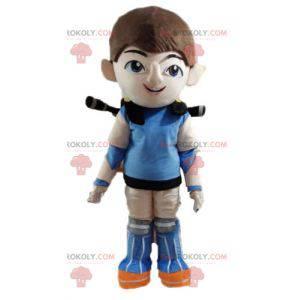 Futuristisk superhelt gutt maskot - Redbrokoly.com