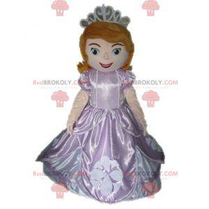 Mascota princesa pelirroja en vestido rosa - Redbrokoly.com