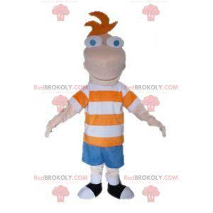 Ferb maskot från TV-serien Phineas och Ferb - Redbrokoly.com