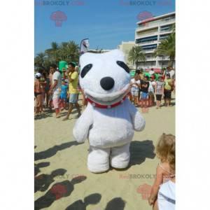 Velký bílý a černý pes maskot obří - Redbrokoly.com