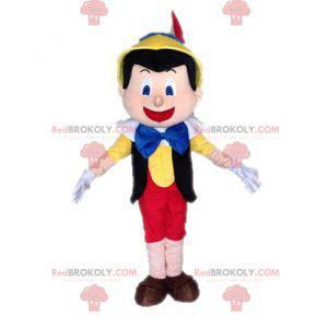 Pinocchio famoso cartone animato burattino mascotte -