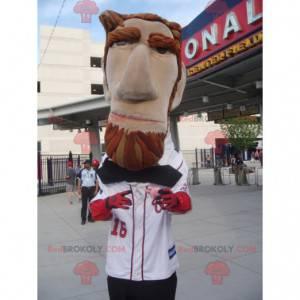 Abraham Lincoln mascot bearded and impressive - Redbrokoly.com