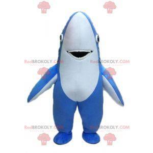 Obří modrý a bílý žralok maskot - Redbrokoly.com