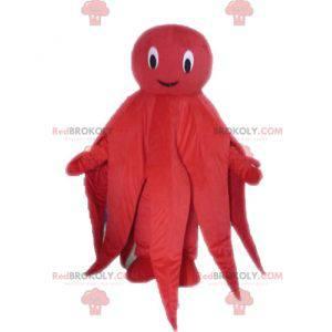Obří červená chobotnice maskot chobotnice - Redbrokoly.com