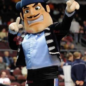 Mustached man toreador torero maskot - Redbrokoly.com
