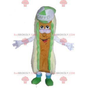 Gigantisk sandwich maskot. Hot dog maskot - Redbrokoly.com