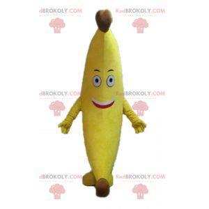 Obří žlutý banán maskot. Maskot exotického ovoce -