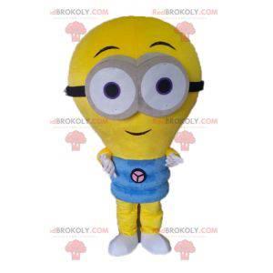 Obří žlutá žárovka maskot. Mimoni maskot - Redbrokoly.com