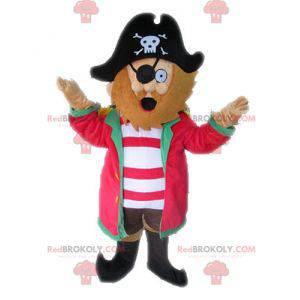 Piratenmaskottchen mit Hut. Kapitän Maskottchen - Redbrokoly.com