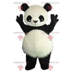 Mascot van een zwart-witte panda en zijn mooie oren -