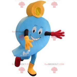 Maskot v podobě modré bubliny. Číslo 9 - Redbrokoly.com