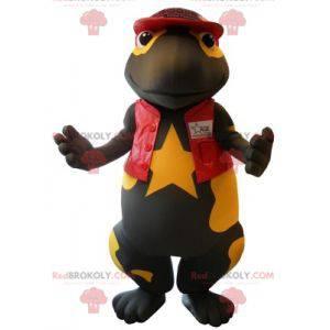 Riesiges schwarzes und gelbes Salamander-Maskottchen -