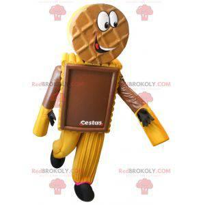 Mascotte della torta del biscotto al cioccolato - Redbrokoly.com