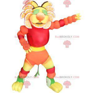 Minute Maid maskot. Tygří maskot s citrusy - Redbrokoly.com