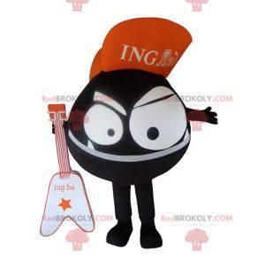 All round black monster mascot. ING Direct mascot -