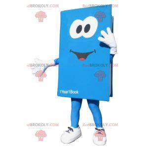 Giant blue and white book mascot. Book costume - Redbrokoly.com
